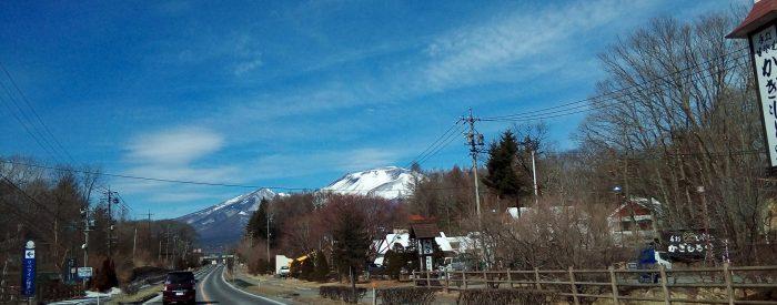 軽井沢町からみた浅間山