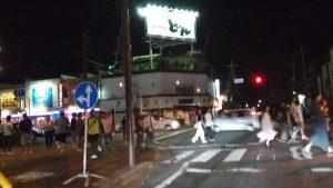 太田のお祭りでアルファードインロック