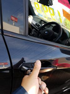BMWのインロック開錠