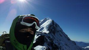厳冬期の赤岳